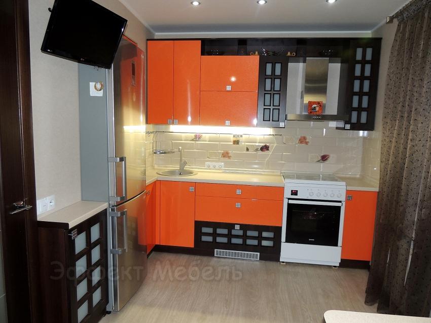 """Кухня """"Апельсин"""" с МДФ фасадами"""